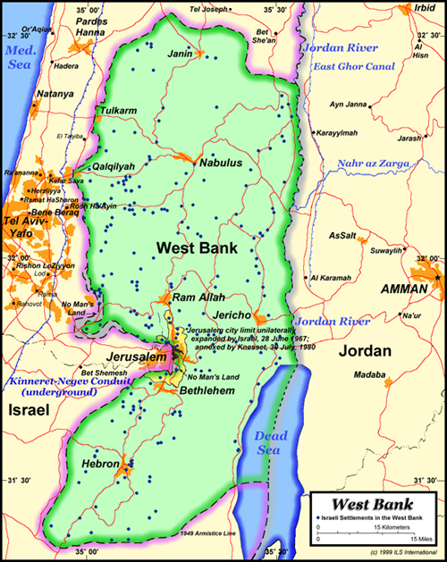 Map - West Bank